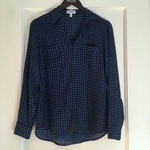Express Button-up Blouse with Collar